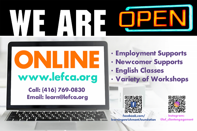 We are open online